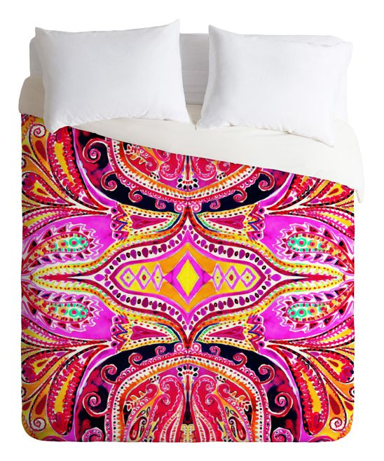 Amy Sia Paisley Hot Pink Duvet Cover