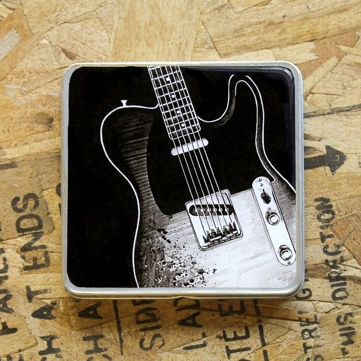 Fender Telecaster guitar / Pick Holder / Metal Wallet