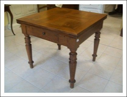 Tavolo quadrato allungabile emiliano 90x90