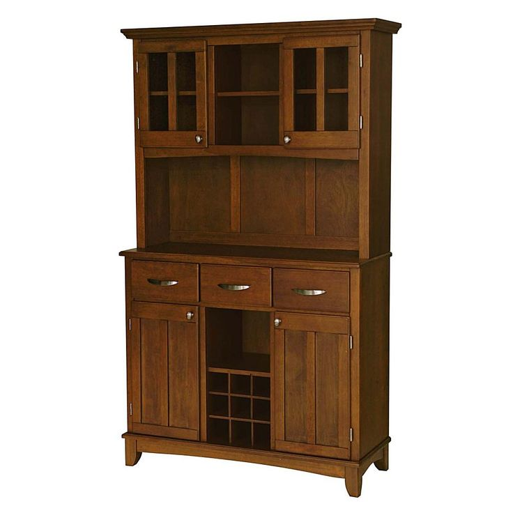 Home Marketplace Home Styles Large Serving Buffet with Hutch - Cherry