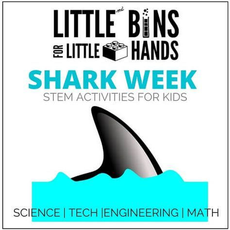 Shark Week Activities for Kids Science Technology, Engineering, and Math Shark Activities