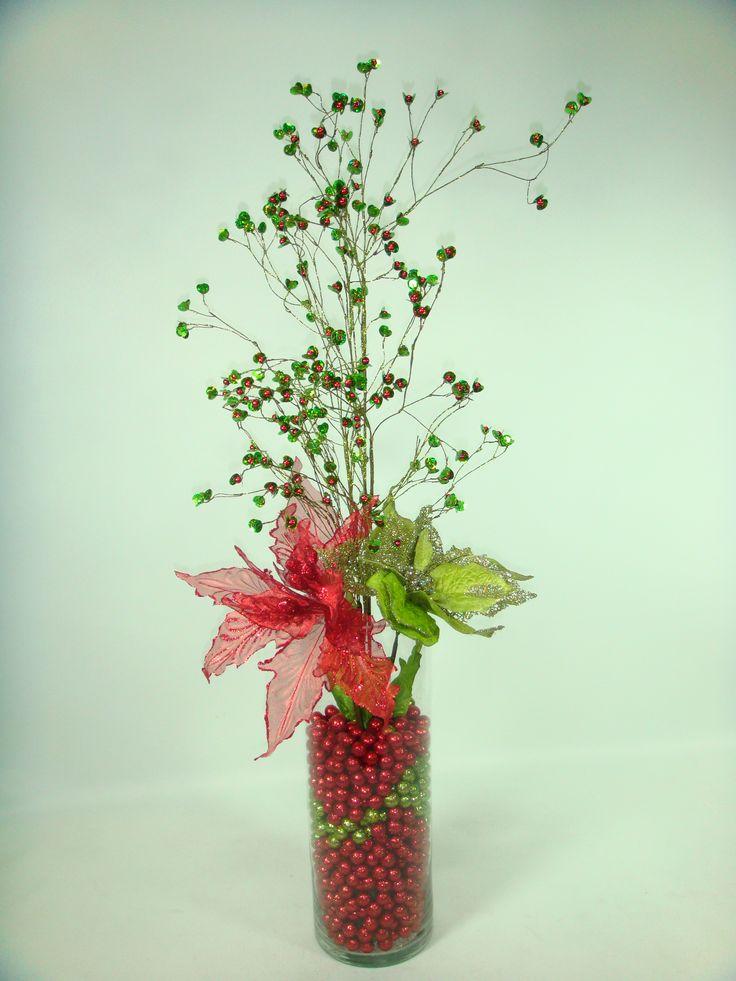 Cilindro decorado en verde y rojo, muy facil de hacer !!