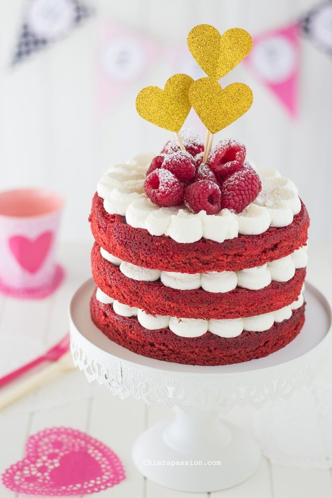 Red Velvet cake, recipe valentine's day. Photography