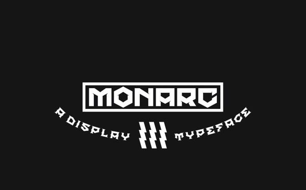 MONARC free font by Benjamin Broschinski, via Behance