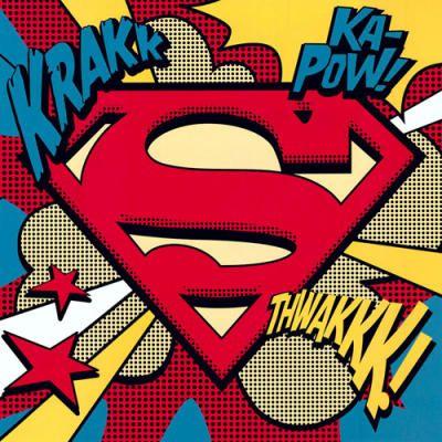Superman logo pop art