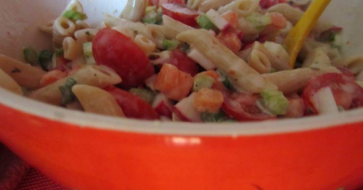 Idéale pour les canicules!!! Salade de pâtes vraiment délicieuse! Un vrai goût de fraicheur! Temps de préparation: 20 min Temps de cui...
