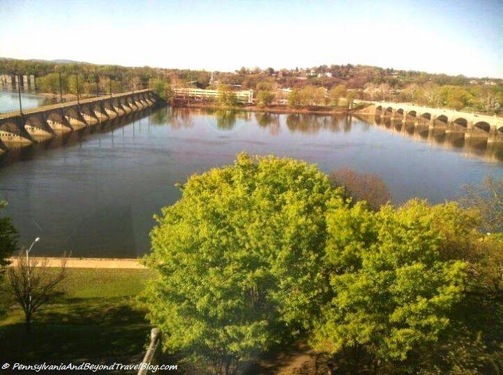 Harrisburg City Island and the Susquehanna River Bridges in Harrisburg Pennsylvania