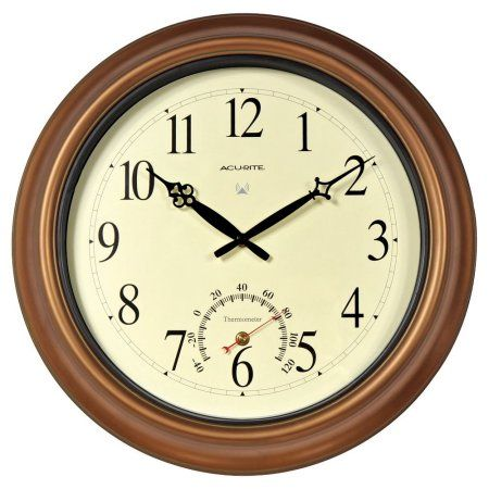 Patio Garden Atomic Wall Clock Outdoor Clock Clock