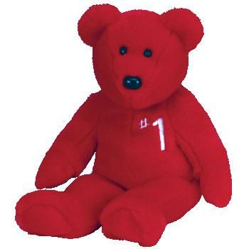 #1 the Bear Value: $1,500-$2,000  Only about 250 of this bear were produced as gifts for Ty sales representatives.