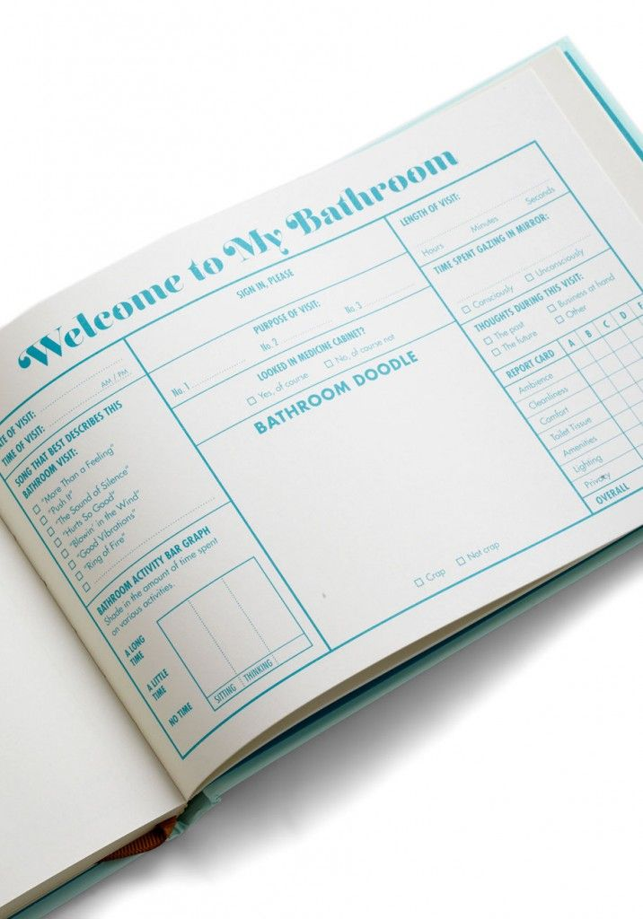 Bathroom Guest Book - One of the most hilarious things to show your guests!