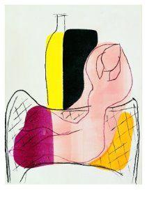 Hendrik Nicolaas Werkman -  Vrouw met medicijnfles / Woman with medicine bottle -  A8869 - Postcard