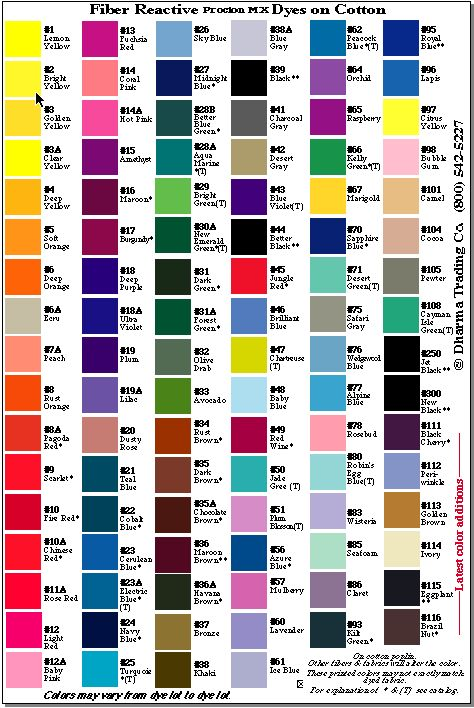 Making Art Colors Of Procion Dye Mx To Do Pinterest