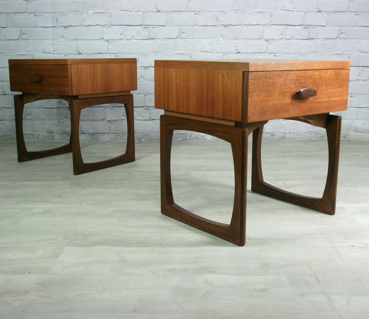 Pair of Vintage G-Plan Quadrille Bedside Tables