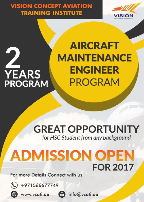 Excellent opportunity to become Aircraft Maintenance Engineer Program