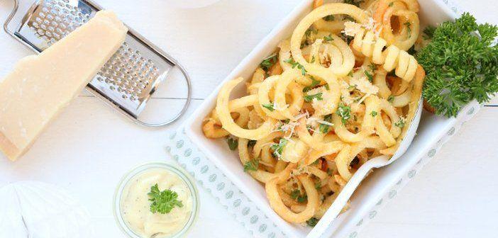 Truffel peterselie frietjes met Parmezaan
