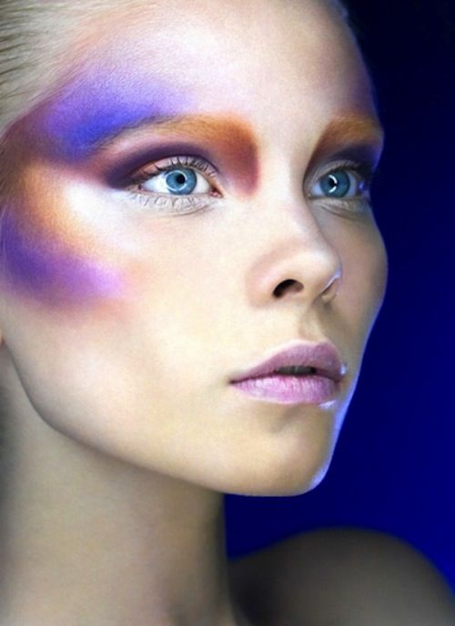 This makeup reminds me of outerspace