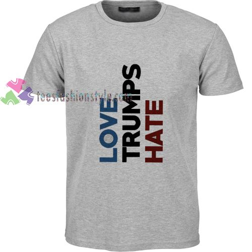 love trumps hate t shirt gift tees unisex adult cool tee shirts
