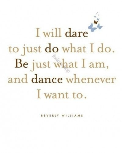 I will dare ...