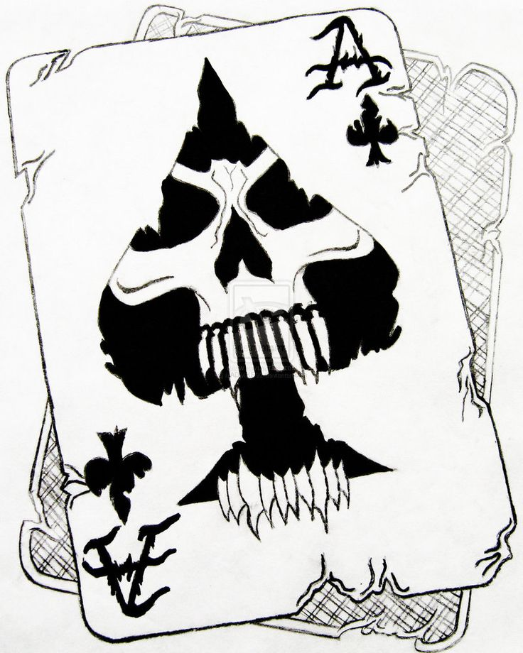 Line Art Card Design : Death ace by madmike on deviantart tattoo pinterest