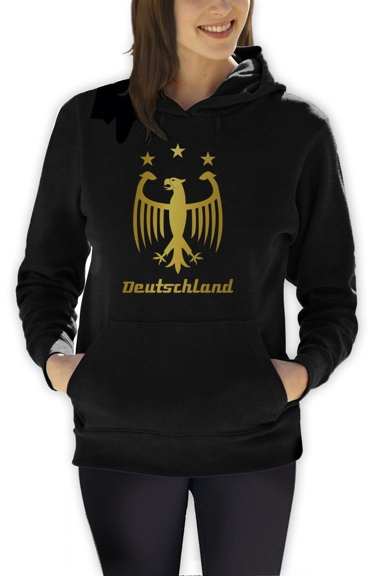 Deutschland Gold Women Hoodie 2015 World Cup Football Soccer Germany Hooded Top
