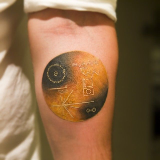 voyager 1 plaque tattoo - photo #18