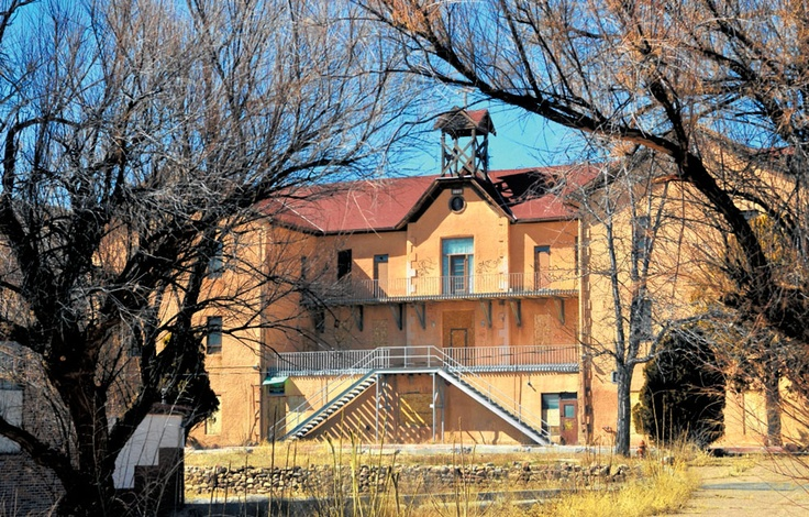 St. Catherines Indian School in Santa Fe, NM.  The school was founded by Saint Mother Katherine Drexel in the late 1800's, but was closed in the 1990's and has been vacant ever since.