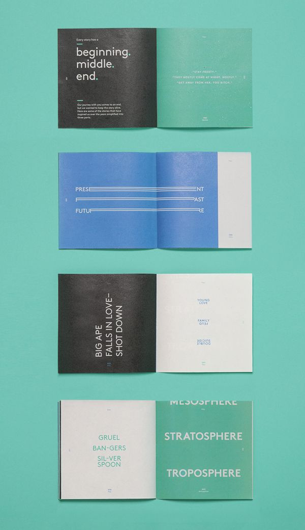 Looks like this design is inspired by works of Helmut schmidt. Visualaz by Jason Little, via Behance