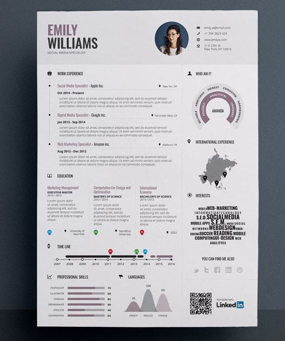 41 Best Infographic Resume Images On Pinterest