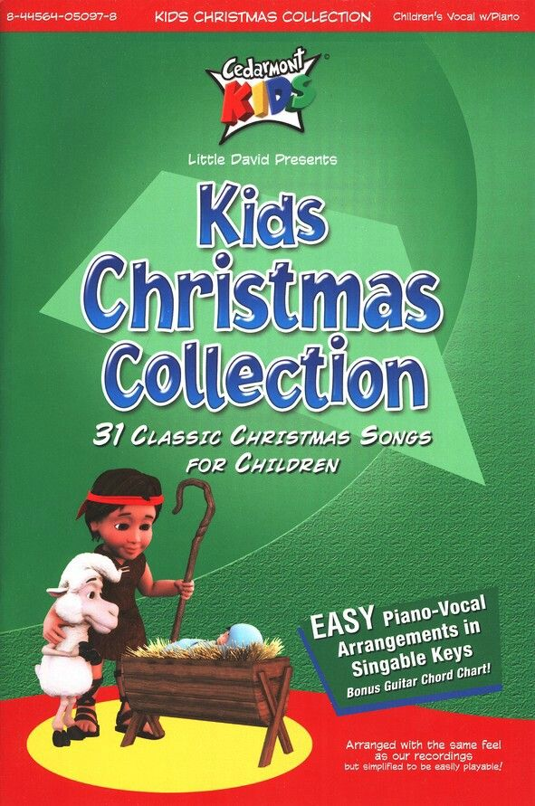 Kids Christmas Collection Front Cover Songbook | Cedarmont Kids ...