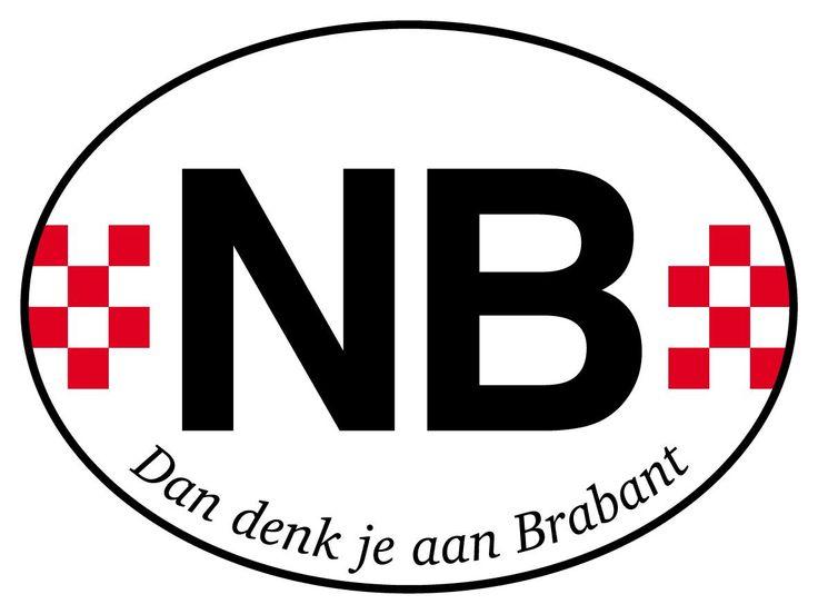 Noord Brabant sticker, dan denk je aan Brabant