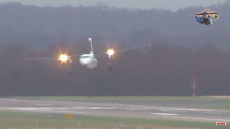 Crazy Crosswind Landing la Dusseldorf cu vânt de până la 110km/h (video)