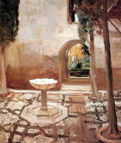 Joaquín Sorolla y Bastida  - Patio de Doña Juana 1909