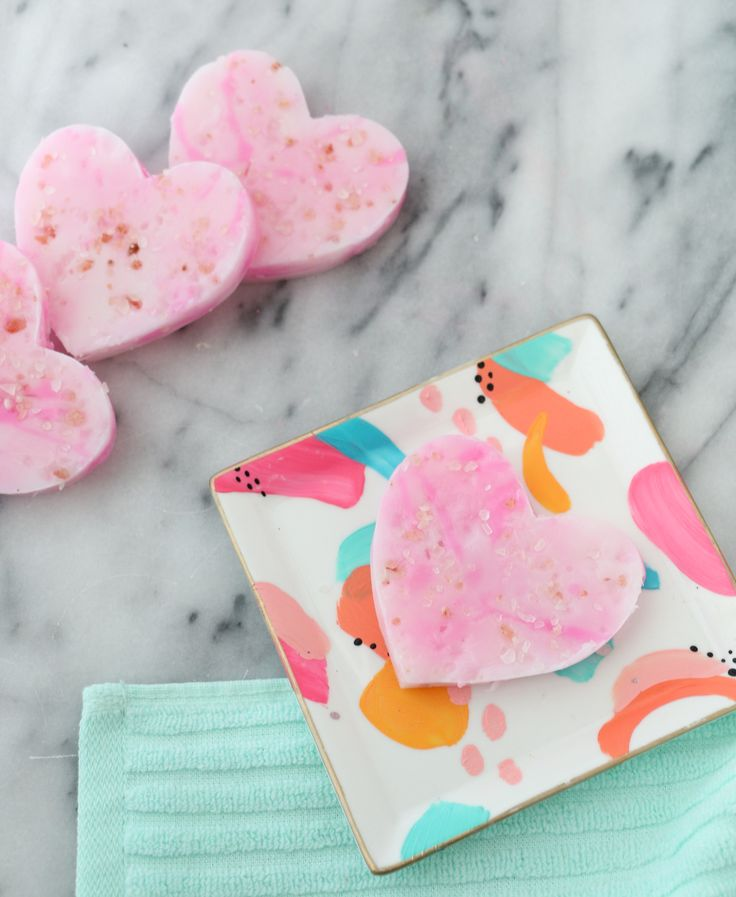 Make Your Own Exfoliating Soap Bars for DIY Valentine's Day Gifts