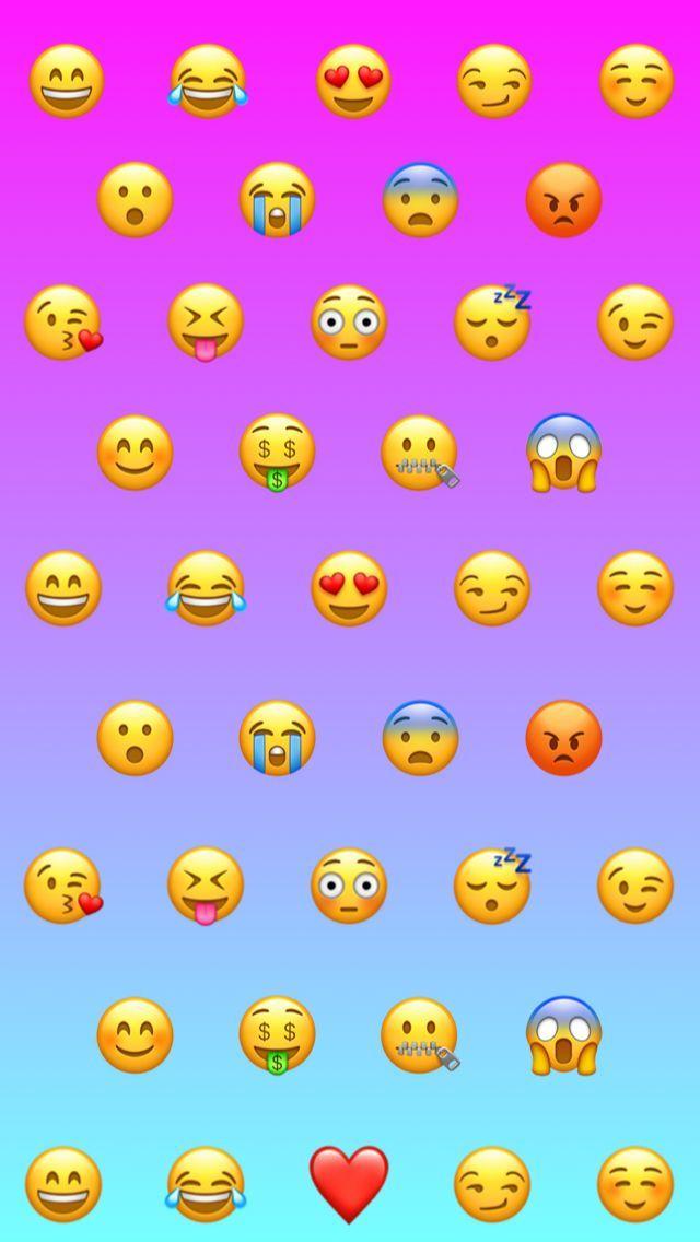 Emoji Girly Ombre Gradient Cute Background Wallpaper Fun Emojis Iphone 5 5s Emoji Wallpaper Iphone Wallpaper Iphone Cute Cute Backgrounds