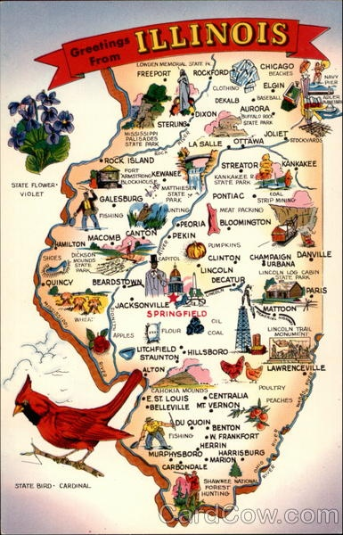 Best Postcard Maps Images On Pinterest States Vintage - United state state map