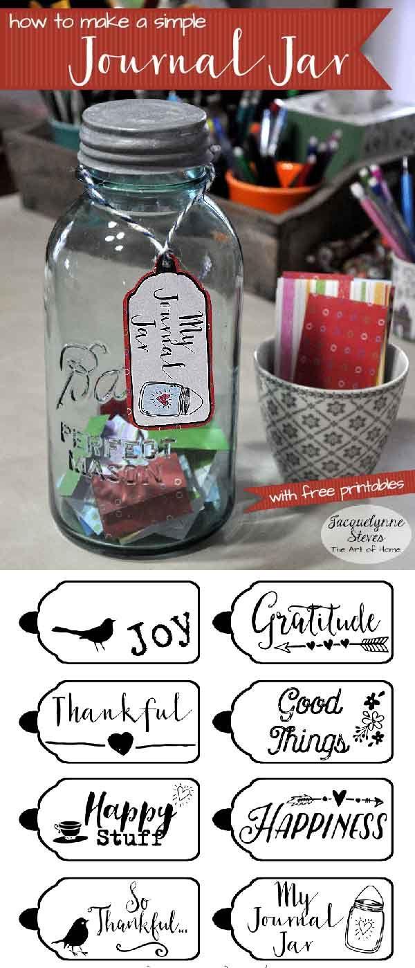 Journal Jar with printables-Jacquelynne Steves