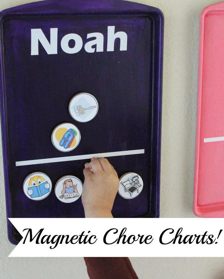 Thrifty Crafty Girl: Magnetic Chore Charts