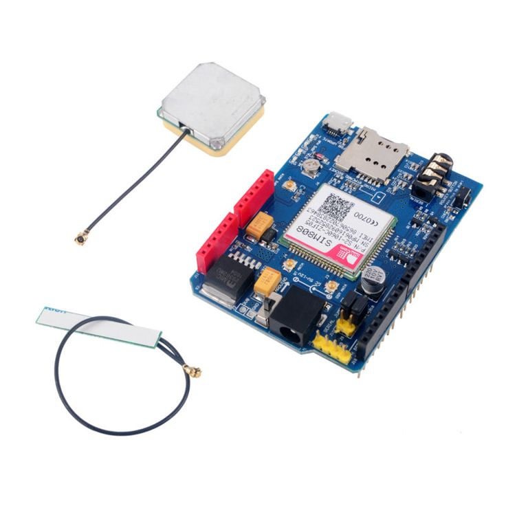 SIM808 Development Board Shield V1. GSM GPRS GPS BT Quad-band Replace SIM928 Module With Antenna For ARDUINO FZ2433