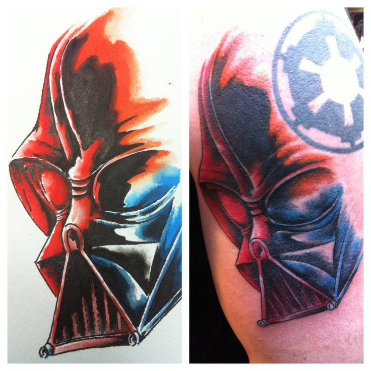 Darth vader color study tattoo by pete skidmore for Tattoo corpus christi