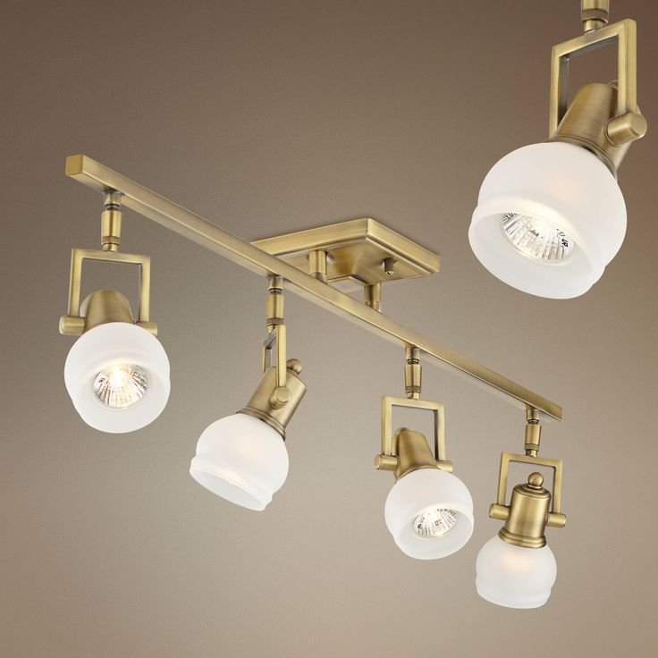 Pro TrackR Corwin Brass 4 Light Track Fixture