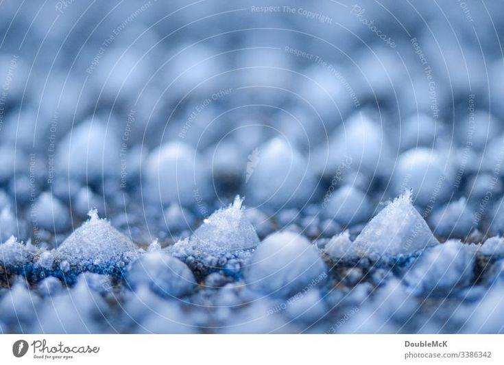 Foto Eiskristalle an kleinen Eiszapfen von DoubleMcK