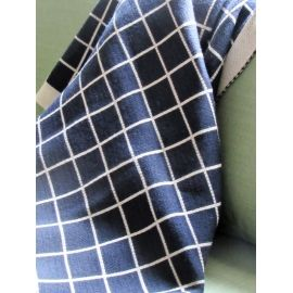 Plaid Knit Throw - Blue