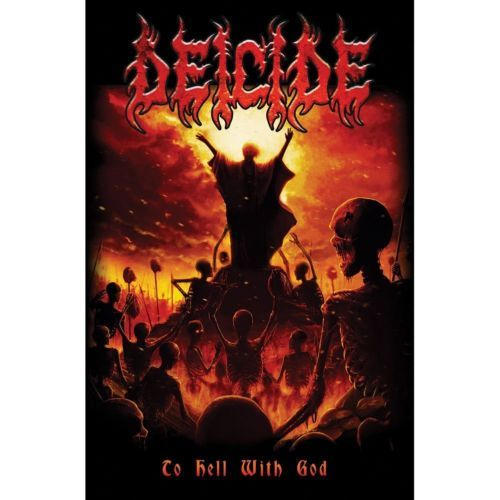 Details About Deicide Poster Flag To Hell With God Death