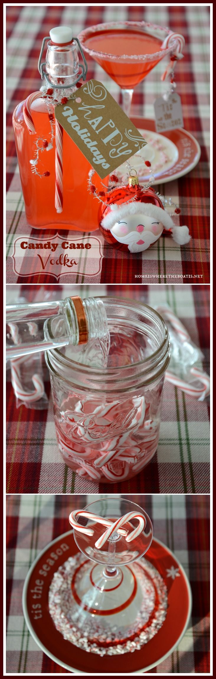 Making Spirits Bright: Candy Cane-infused Vodka, ready to sip or gift in 3 hours!