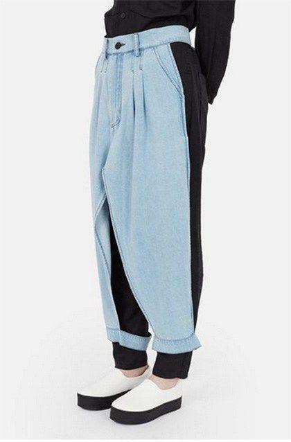 denim apron pants