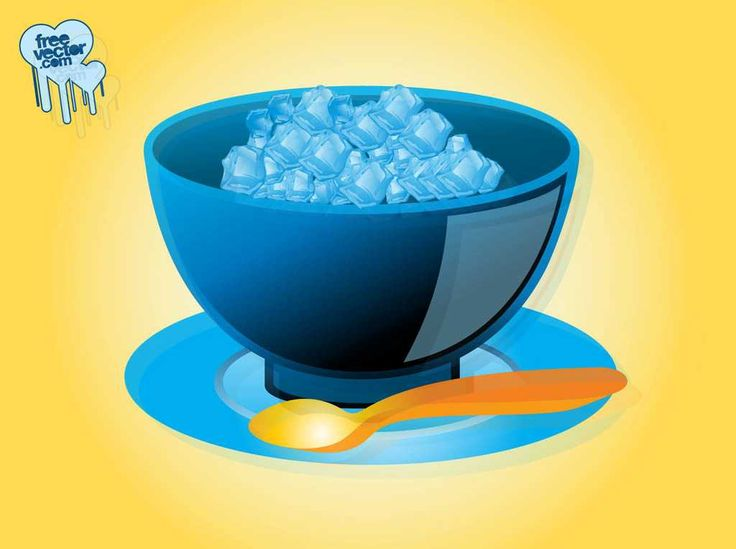 ICE CUBES WITH BOWL IN 3D STYLE - FREE