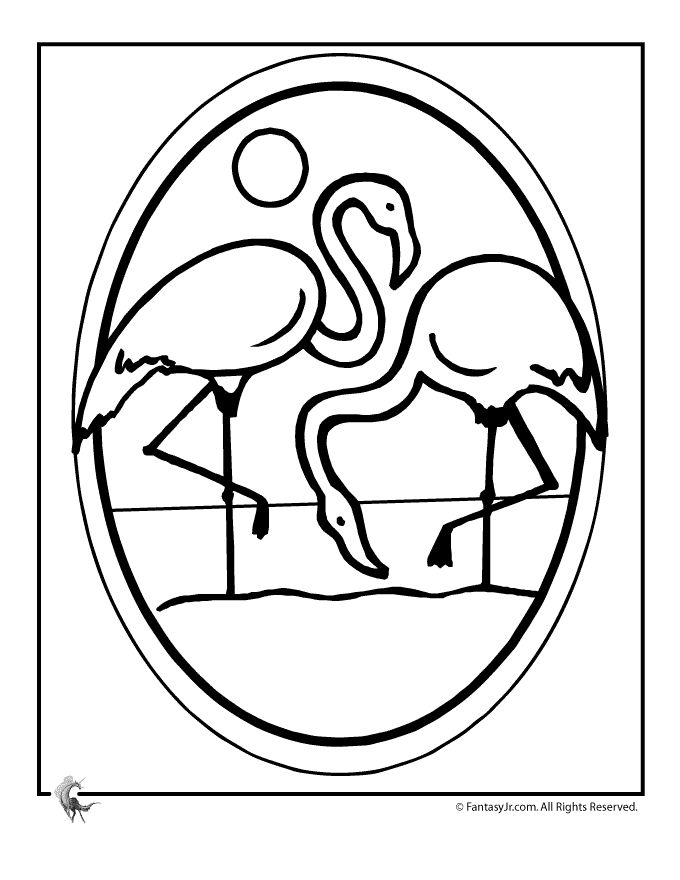 Luau Coloring Pages For A Hawaiian Party Flamingo Luau