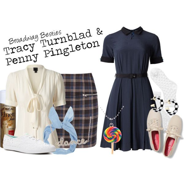 Tracy & Penny by charlizard on Polyvore featuring polyvore, fashion, style, Orla Kiely, Monki, Keds, Tiny Hands, Kenneth Jay Lane, Sydney Evan, broadway and hairspray