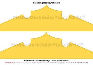 Sleeping Beauty Printable Crown