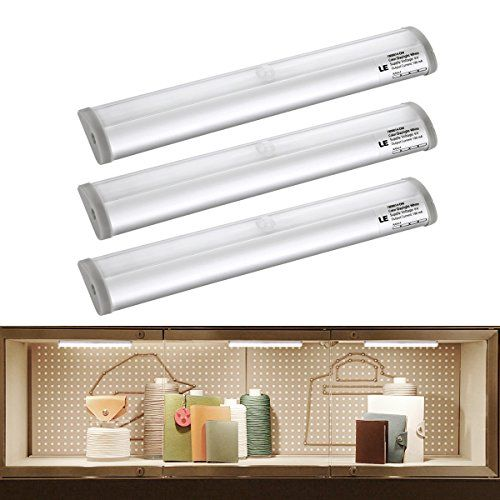 LE Under Cabinet Lighting, Daylight White, 6000K, Motion Sensor Light, Battery Powered , 10 Super-Bright LEDs, Stick-on Anywhere with Magnetic Strip, Closet Cabinet LED Night Light, Pack of 3 Units Lighting EVER http://www.amazon.co.uk/dp/B00PIE45TK/ref=cm_sw_r_pi_dp_UGYVvb10VMWC3